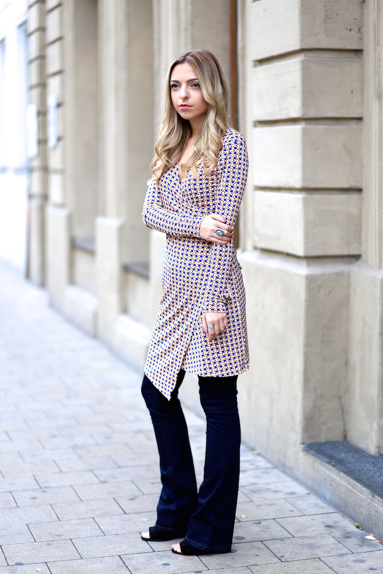 Dress over Pants Outfit Blog