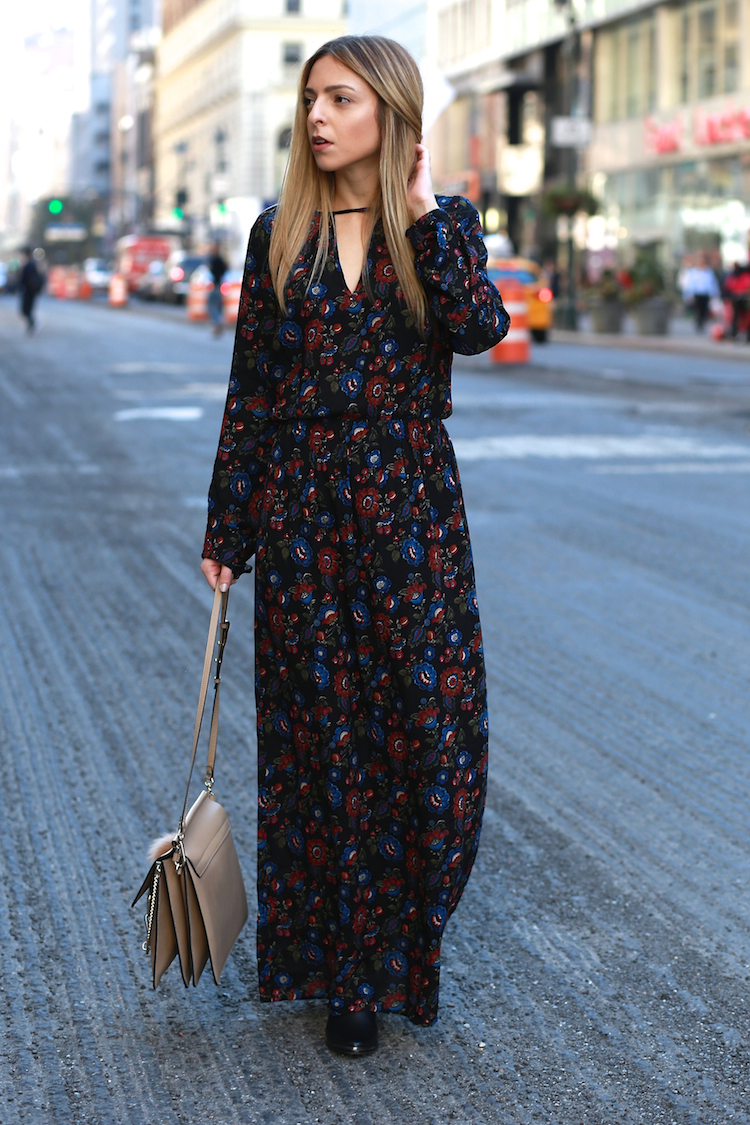 Maxi Dress in Fall