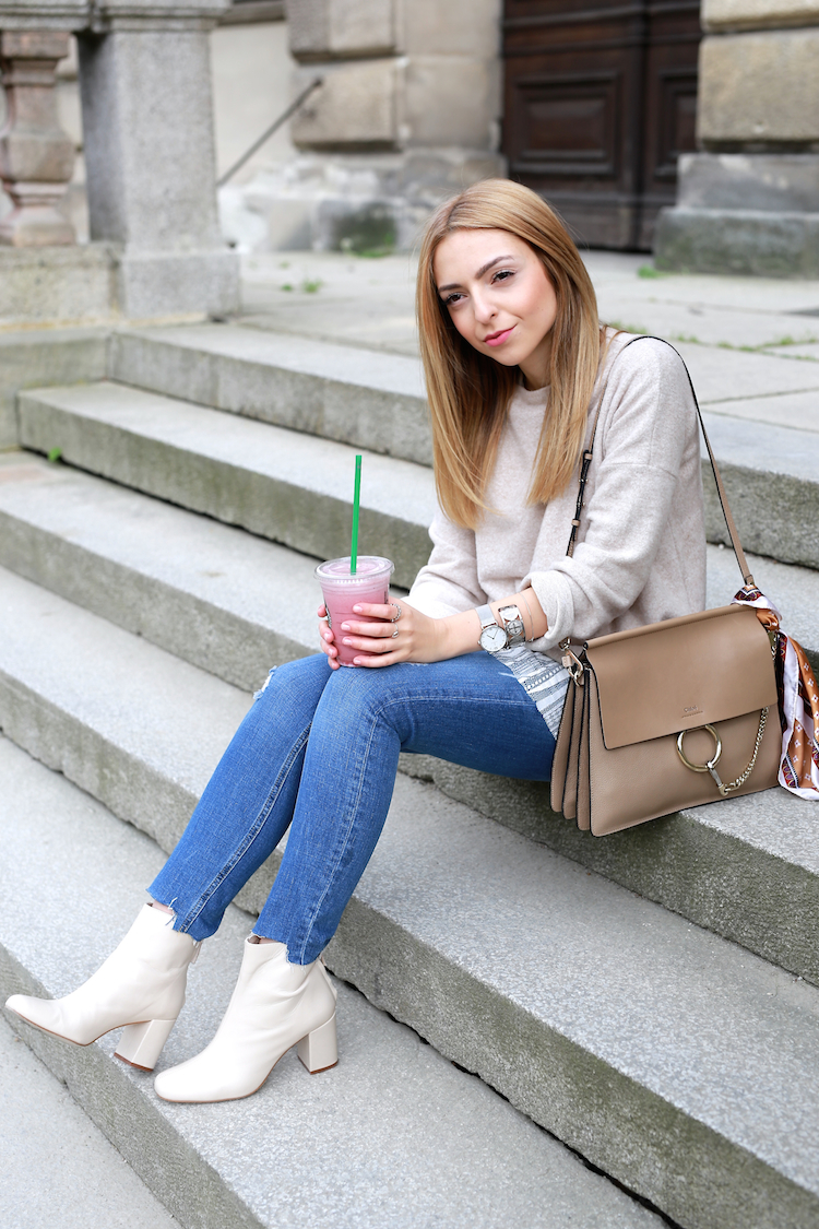 White Zara Boots And My Pink Candy Floss Drink Want Get