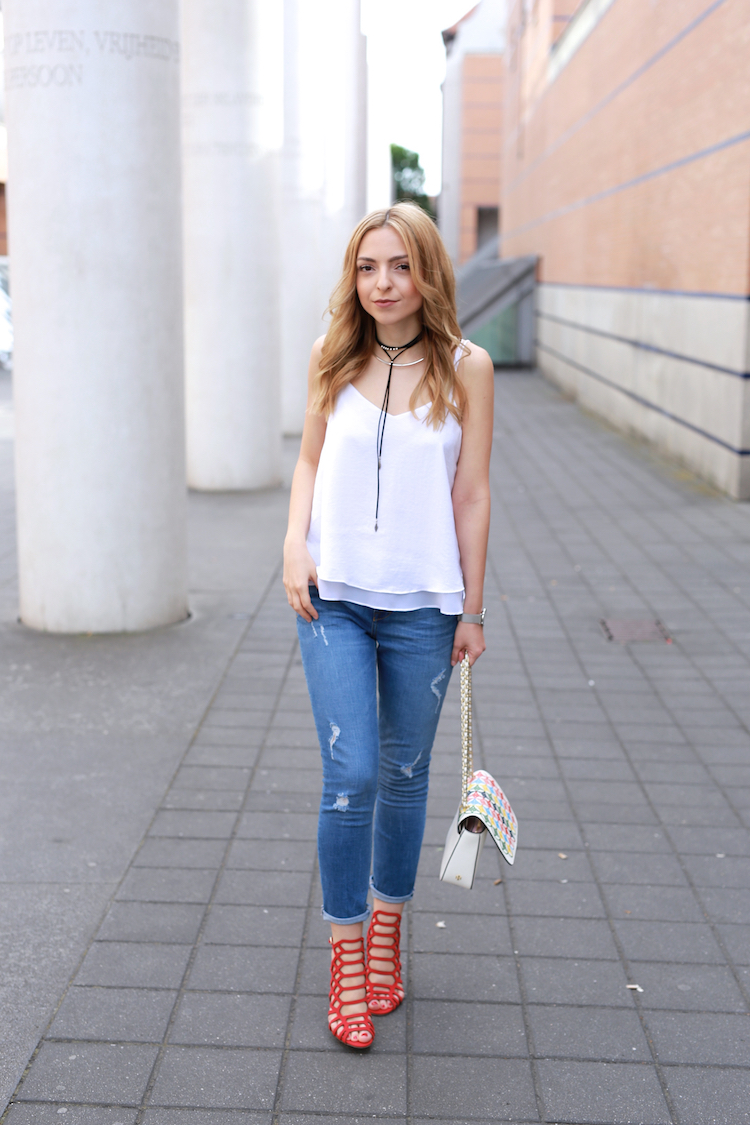 Want Get Repeat Blog Summer White Top Outfit