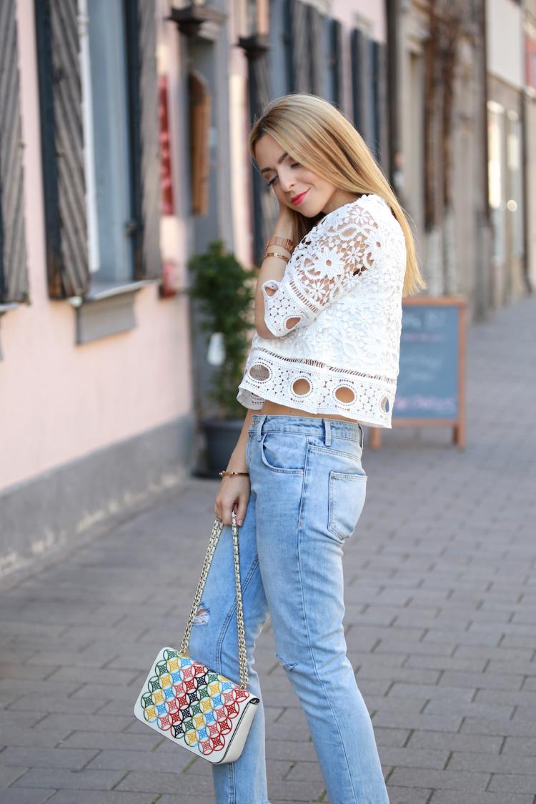 Want Get Repeat Blog Crochet Top Miista Statement Heels