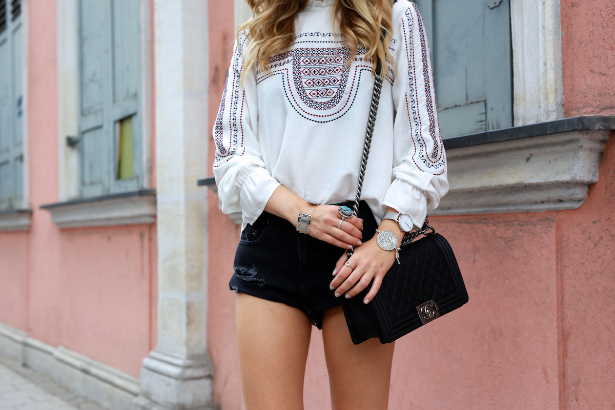 Want Get Repeat Blog Folklore Top Chanel Boy Caviar Outfit