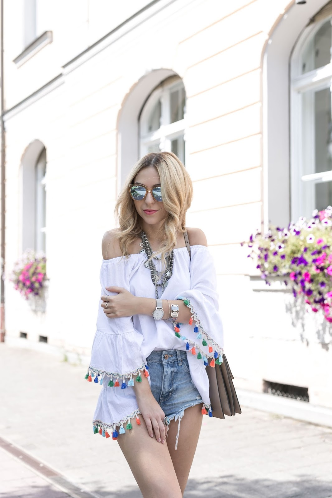 Want Get Repeat Blog Pompom Sandals Tassels Outfit
