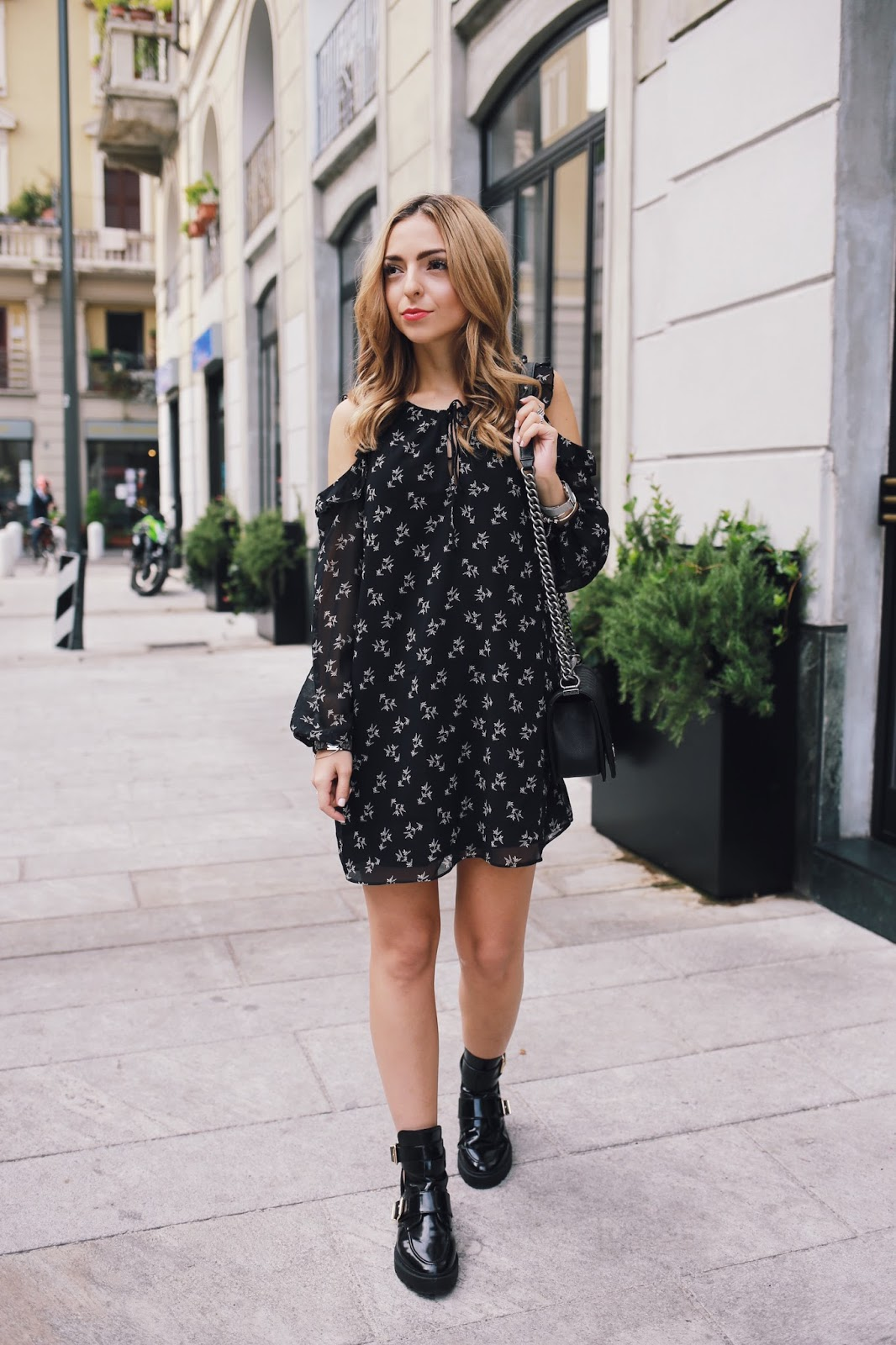 Mango Cold Shoulder Dress Outfit Want Get Repeat Blog
