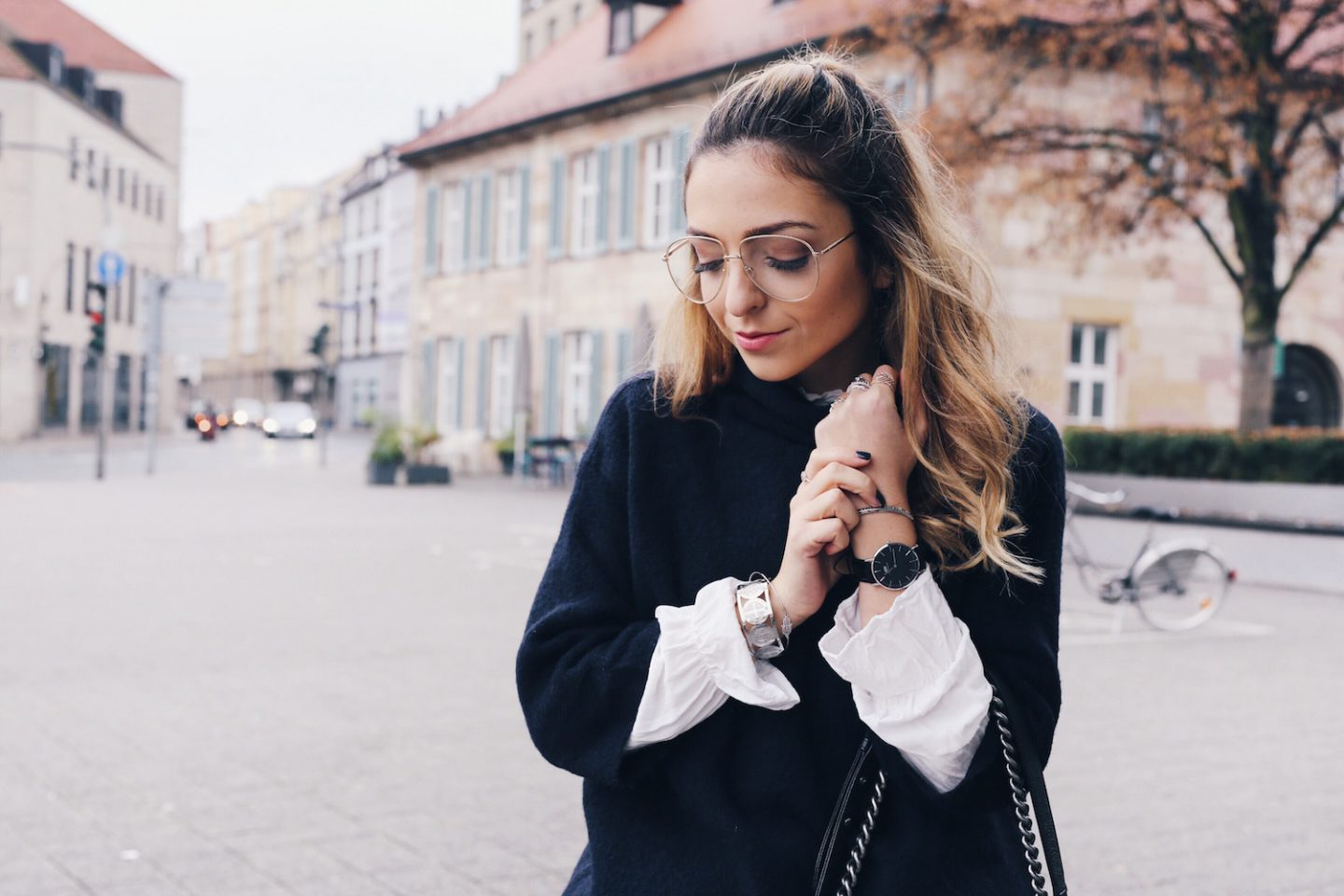 Want Get Repeat Daniel Wellington Classic Black Fall Outfit