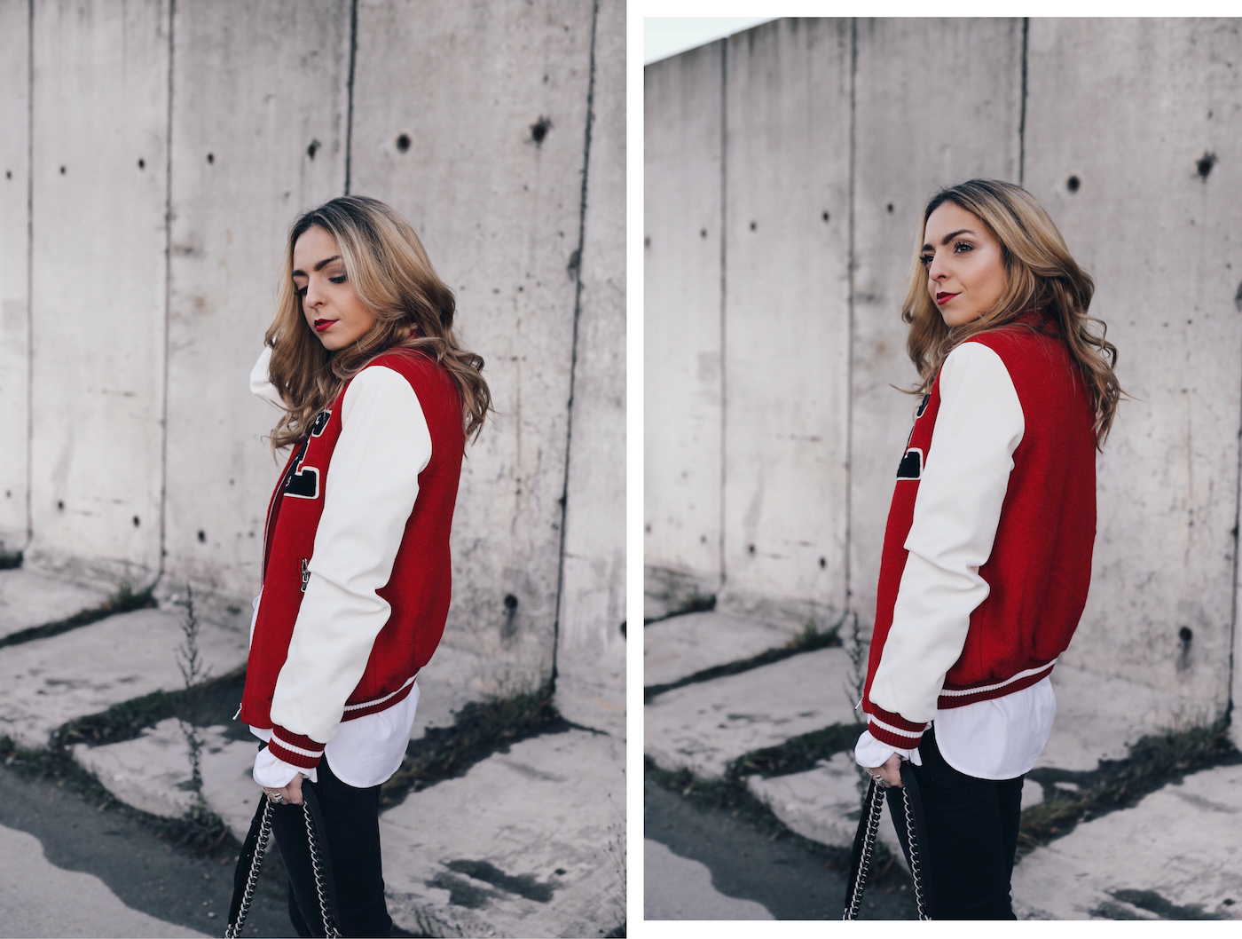 Red Bomber Jacket Streetstyle Want Get Repeat Chanel Boy Caviar 01