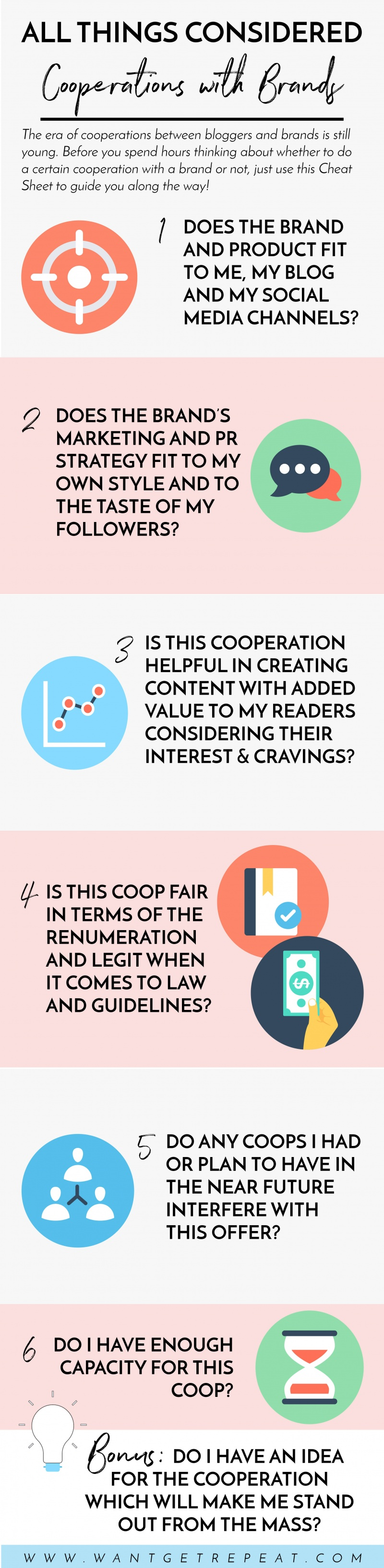 blogger cooperations with brands cheat sheet want get repeat blog
