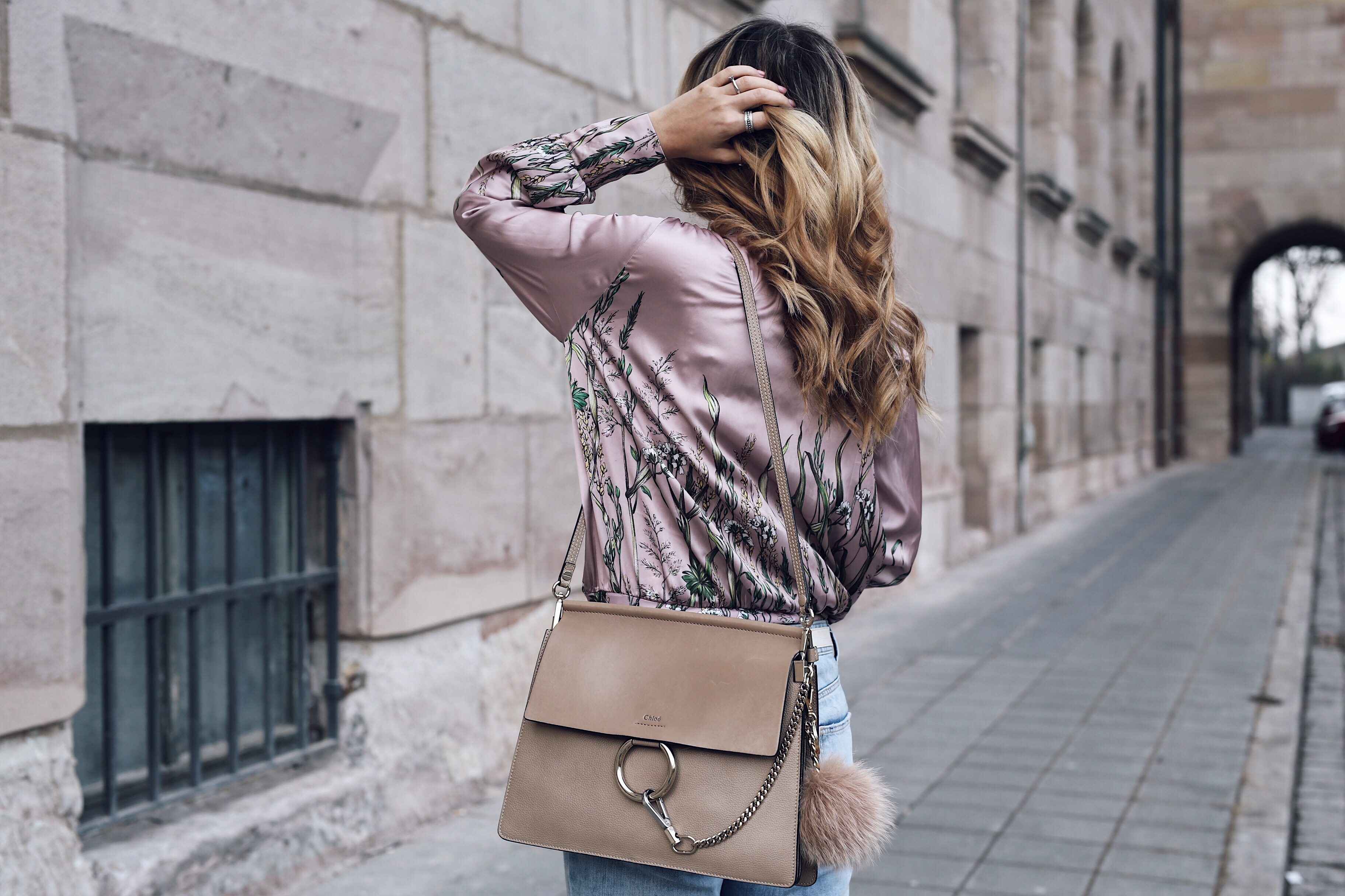 Want Get Repeat Blog How to Style Zara Floral Print Body in Winter Outfit