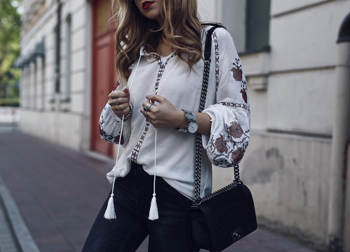 Miu Miu Look Alike Shoes with Embroidered Folklore Blouse | Want Get Repeat
