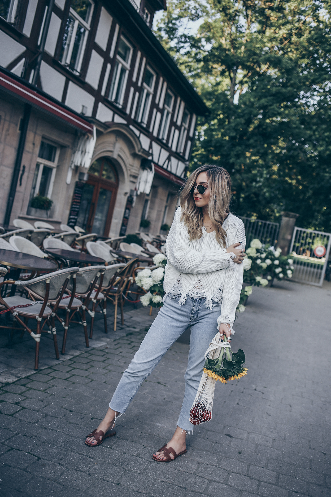 Hermes Oran Sandals Outfit Net Bag Summer Trend 2017 Fashion Blog Street Style Germany Nürnberg Erlangen