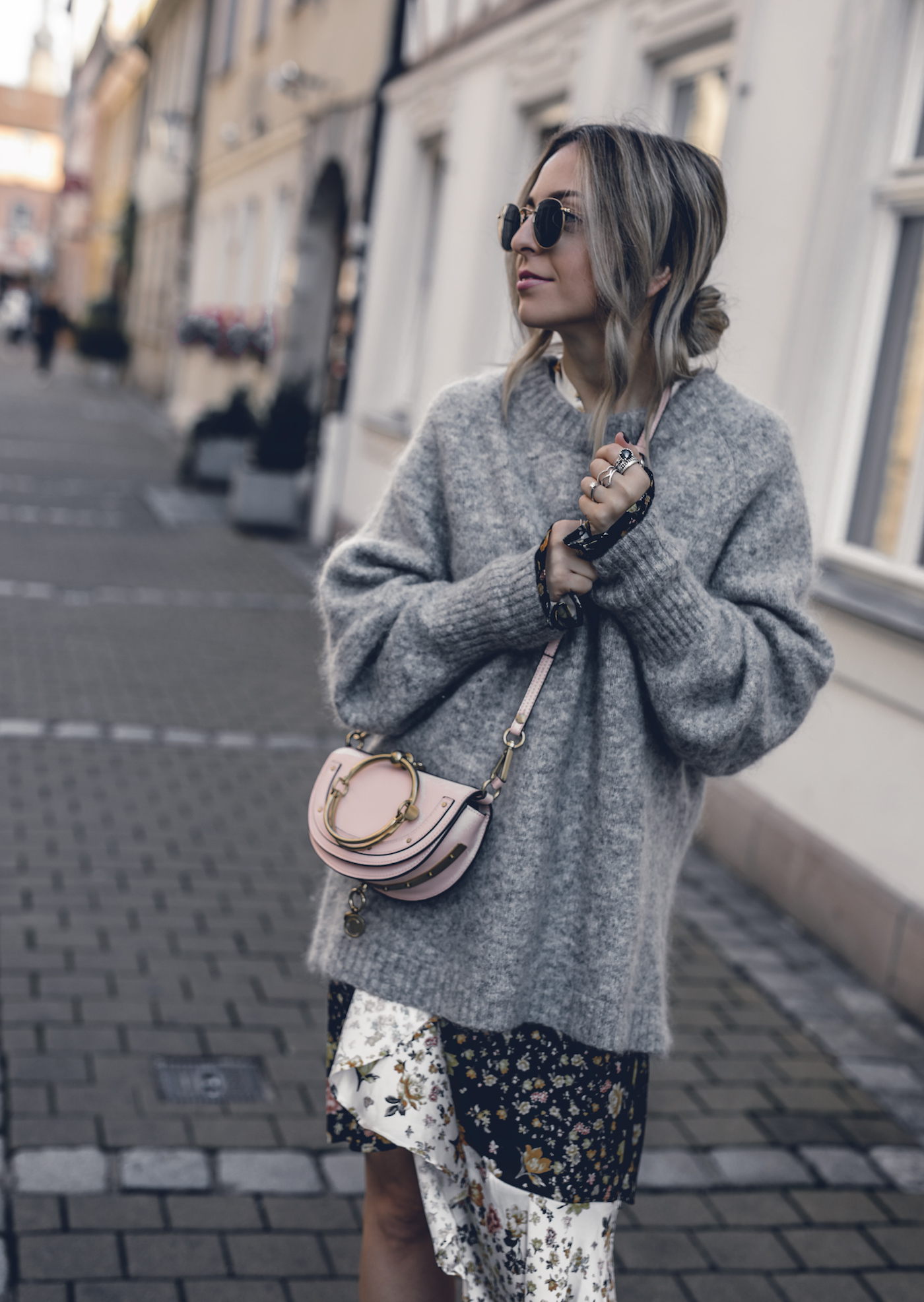 How to wear a dress in winter, street style 2017, layering looks, casual, booties, sweaters | Seen on Want Get Repeat