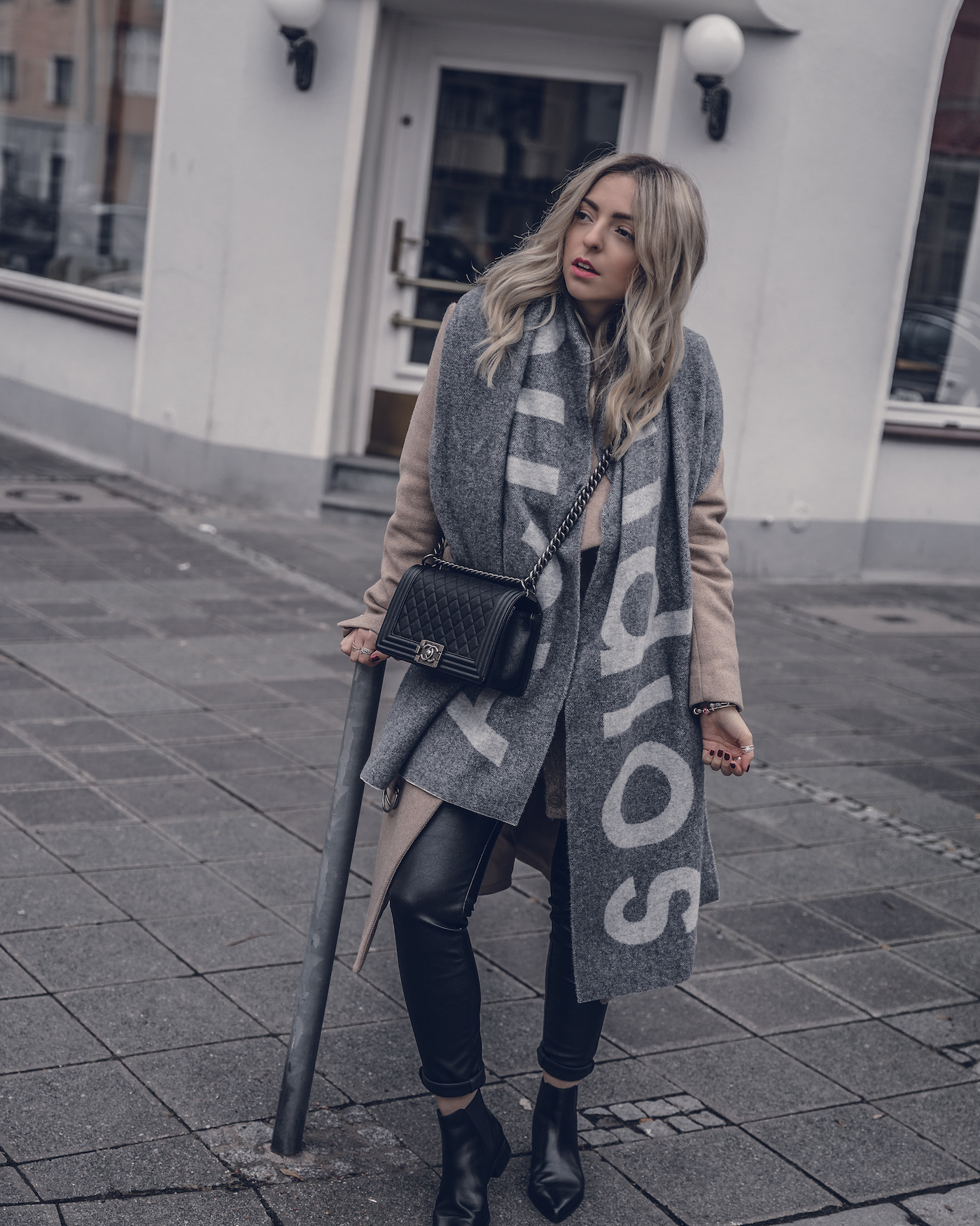Are Acne scarfs worth it review | seen on Want Get Repeat Fashion Blog