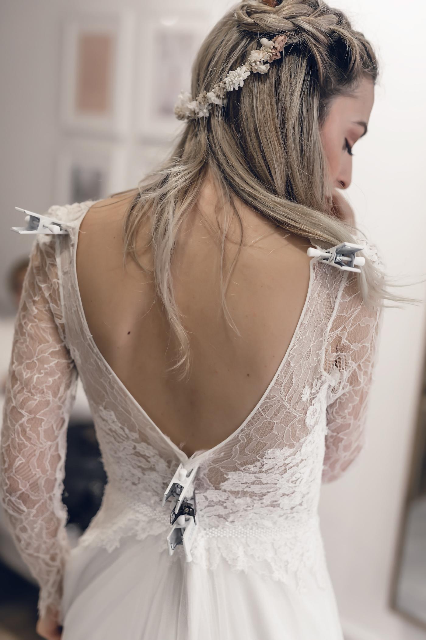 Brautkleid midi boho