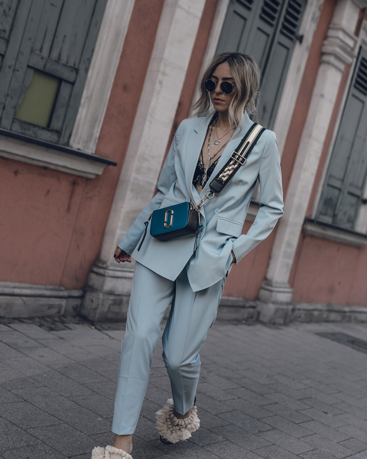 Spring Suit Pastel Women Streetstyle Outfit 2018 Summer Fashion Modern Casual Business | seen on Want Get Repeat Blog