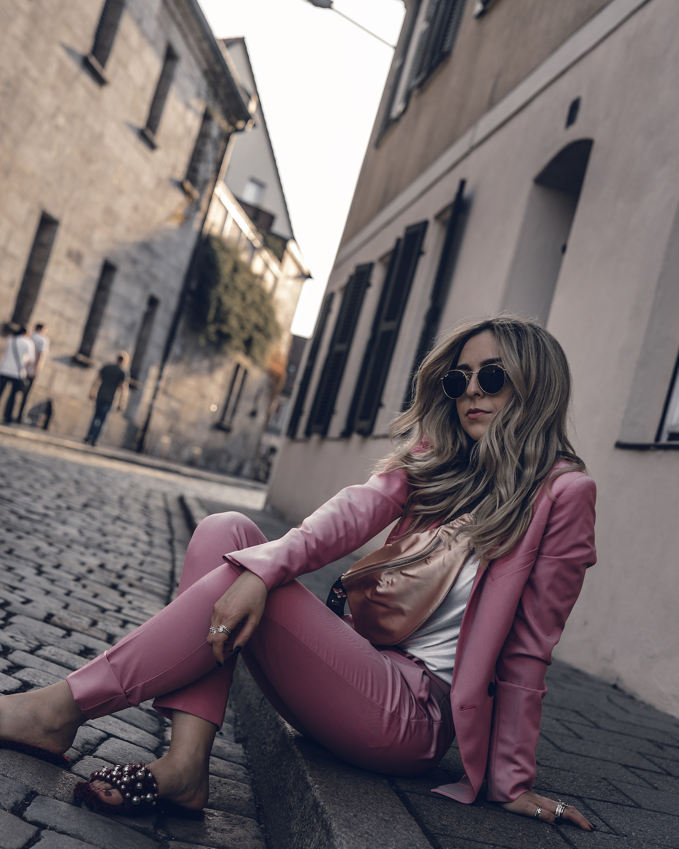 Spring Suit Pastel Women Streetstyle Outfit 2018 Summer Fashion Modern Casual Business   seen on Want Get Repeat Blog